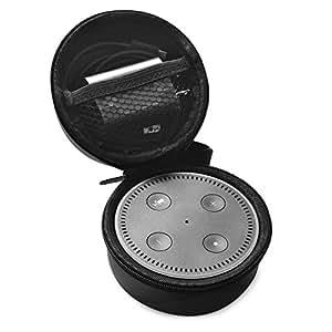 MEOW MARKET Amazon Echo Dot アマゾンエコー ドット Alexa 収納袋 保護ケース コンパクト ポーチポータブル 収納ポーチ EVA ハードケース ケーブル 撥水 防塵 耐衝撃 持ち運びに便利