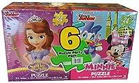 Sofia the First , Doc McStuffins、Minnieマウス各6パズルパーティーパック( 24ピース)