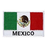 Phoenix Ikki 世界の国旗 30国 タクティカル 服縫製 DIY デコレーション 国旗エンブレム サバゲーミリタリーパッチ 布 刺繍 ワッペン 腕章 マジックテープ アップリケ 8cm×5cm Mexico