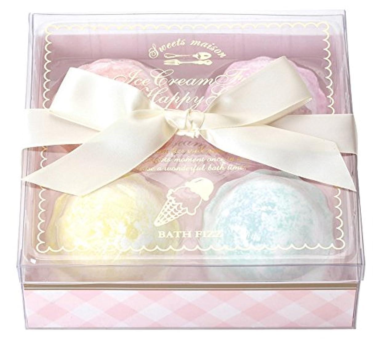 円周キモいお別れノルコーポレーション 入浴剤 バスフィズ アイスクリームフィズハッピーギフト OB-SMG-4-1