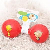 ychoice Lovely赤ちゃんおもちゃギフト子供教育カラフルSensoryソフトBell Ringing RattleダンベルKids Funnnyおもちゃギフト