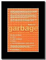 - Garbage - Version 2.0 Tour Dates - つや消しマウントマガジンプロモーションアートワーク、ブラックマウント Matted Mounted Magazine Promotional Artwork on a Black Mount