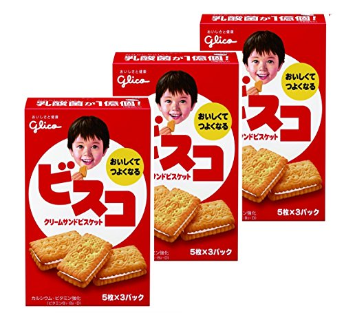 江崎グリコ ビスコ 15枚×3個