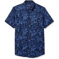 Ben Sherman Mens BA19S13565 Ss Flrl Blue Shirt Short Sleeve Button Down Shirt - Blue