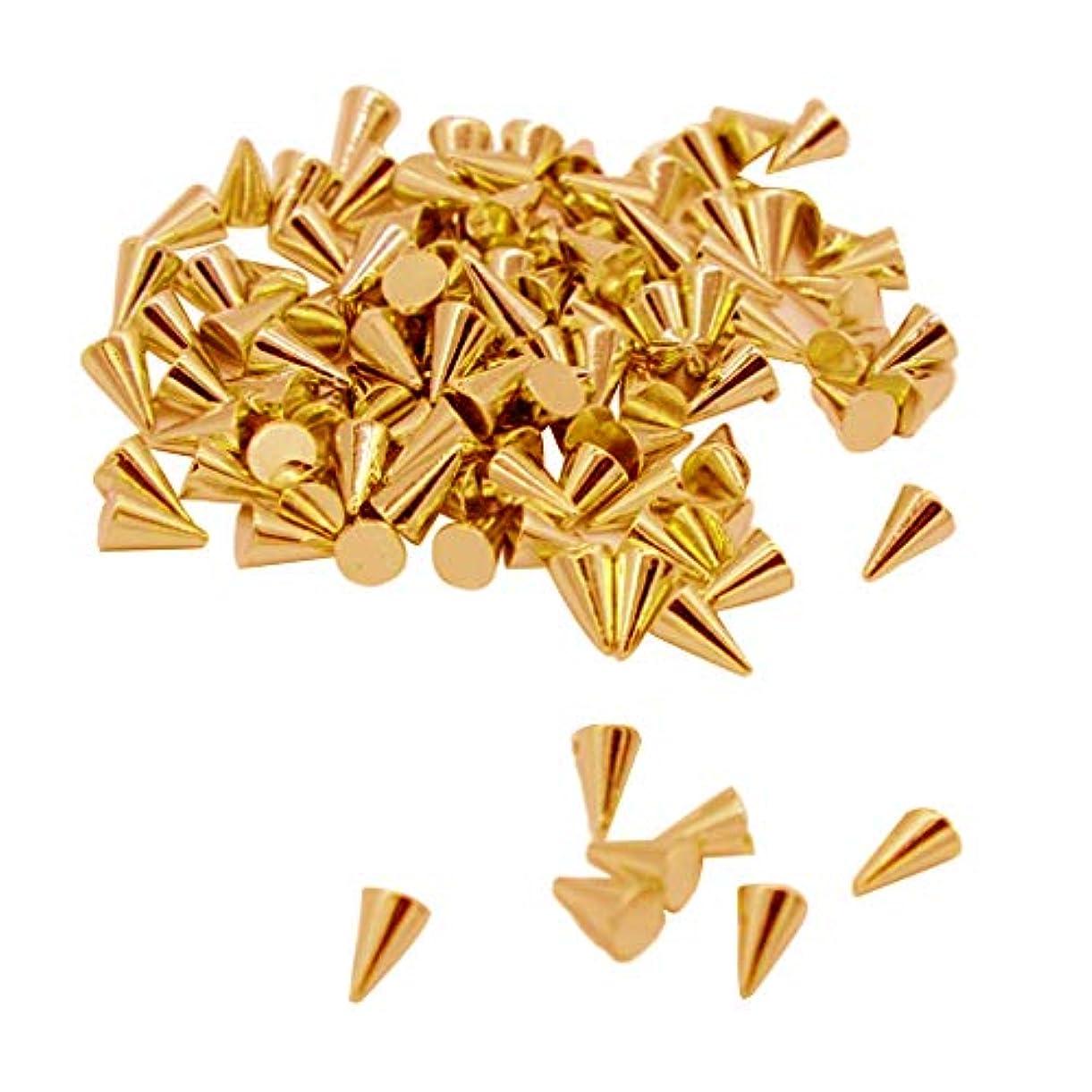 売る子音メッセージラピッド リベット 装飾や修理用 円錐形 プラスチック 約100個 ゴールデン