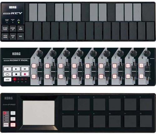 KORG スリム・ライン USB コントローラー/キーボード nanoSET BLACK