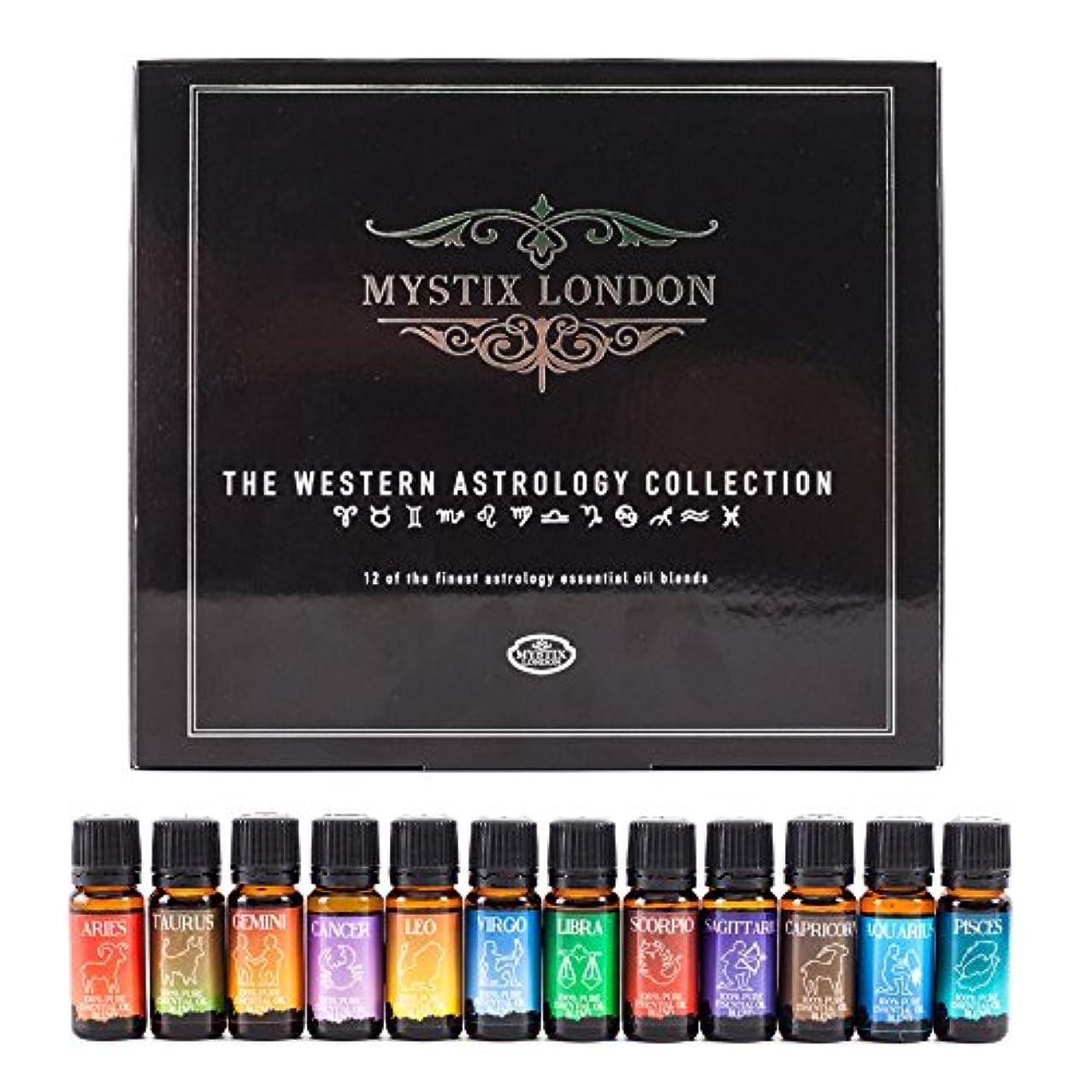 のために聴覚看板Mystix London | The Western Astrology Collection 12 x 10ml 100% Pure Essential Oil Blends