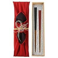 箸 夫婦箸 結婚祝い 高級箸 おしゃれ かわいい 桐箱 箸 ペア 二膳セット細角箸 刷毛目 CL029 CL030