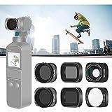 Neewer レンズフィルターセット DJI Osmoポケットカメラレンズに対応 ND8 ND16 ND8/PL ND16/PLフィルター、10Xマクロレンズ、0.65X広角レンズ 磁気デザイン 屋外写真ビデオに最適
