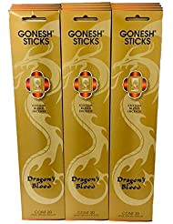 Gonesh Incense Dragon 's Bloodゴールド値セット(合計12パック、240 Sticks )