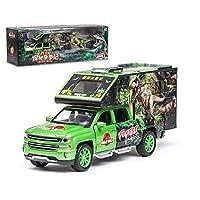 Rabugoo のゲーム シミュレーションシボレーモデルジュラ紀恐竜の子供のおもちゃ車モデル 緑