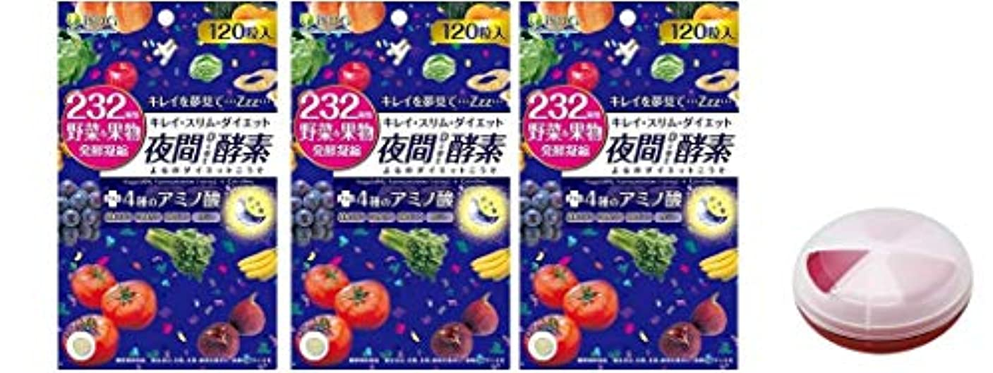 かすれた発揮するベジタリアンISDG 232夜間Diet酵素(ナイトダイエット酵素) 120粒×3袋 サプリメント ケース 付き 20代 30代 40代 50代 女性 男性 メンズ レディース
