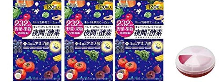 ノーブル特殊ピッチャーISDG 232夜間Diet酵素(ナイトダイエット酵素) 120粒×3袋 サプリメント ケース 付き 20代 30代 40代 50代 女性 男性 メンズ レディース