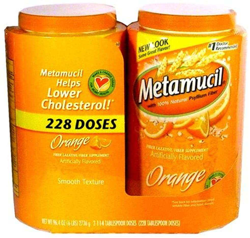 消費者閃光ブランチMetamucil Orange 6 Lbs by Metamucil