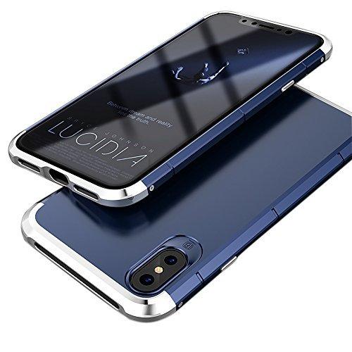 iPhoneX ケース 耐衝撃 ストラップホール付き 3パー...