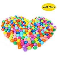 upupo大きいサイズPitボール100個パック、2.8 inchs再利用可能なmutil-color Crush Proofプラスチックボール、子供安全プールゲームおもちゃ