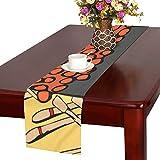 LKCDNG テーブルランナー 美味しい 和風のお寿司 クロス 食卓カバー 麻綿製 欧米 おしゃれ 16 Inch X 72 Inch (40cm X 182cm) キッチン ダイニング ホーム デコレーション モダン リビング 洗える