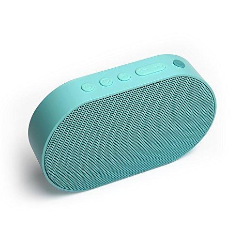 GGMM ワイヤレス スピーカー マイク搭載 軽量 高音質 Amazon Alexa音声認識 14時間連続再生 コンパクト ミニ ポータブル スピーカー スマートホン タブレット その他対応 E2(Wi-Fi Bluetooth, 青)