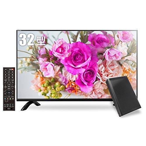 IRIE アイリー 32型 ハイビジョン 液晶 テレビ HDD録画対応 留守録機能 東芝基盤採用 ブラック MAL-FWTV32-SET 外付けHDDorポータブルHDD&同軸ケーブル同梱版
