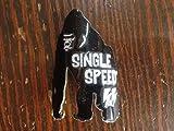 【SINGLE SPEED EMBLEM】ブラックゴリラエンブレム[自転車][ピスト/ピストバイク/シングルスピード/カスタムパーツ]