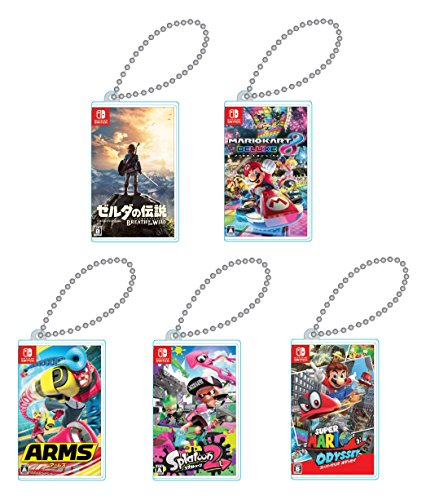 Nintendo Switch専用カードポケットmini 5種セット (ゼルダの伝説 ブレス オブ ザ ワイルド・マリオカート8 デラックス・ARMS・スプラトゥーン2・スーパーマリオ オデッセイ)