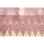 WhiteLeaf ピアノカバー アップライト ジャガード織 ケミカルレース 高品質 全10色 (ピンク)