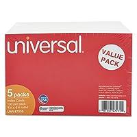 ユニバーサルOffice製品47235Ruledインデックスカード、4x 6、ホワイト、500/パック