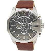 Diesel Men's Chief Stainless Steel Brown Leather Watch