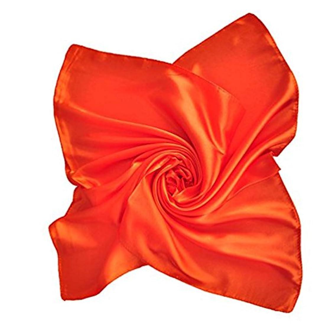 マイルストーン交渉する振る舞うエレガントシルク調 サテン 小判 スカーフ 春夏 企業制服用 マフラー 全22色