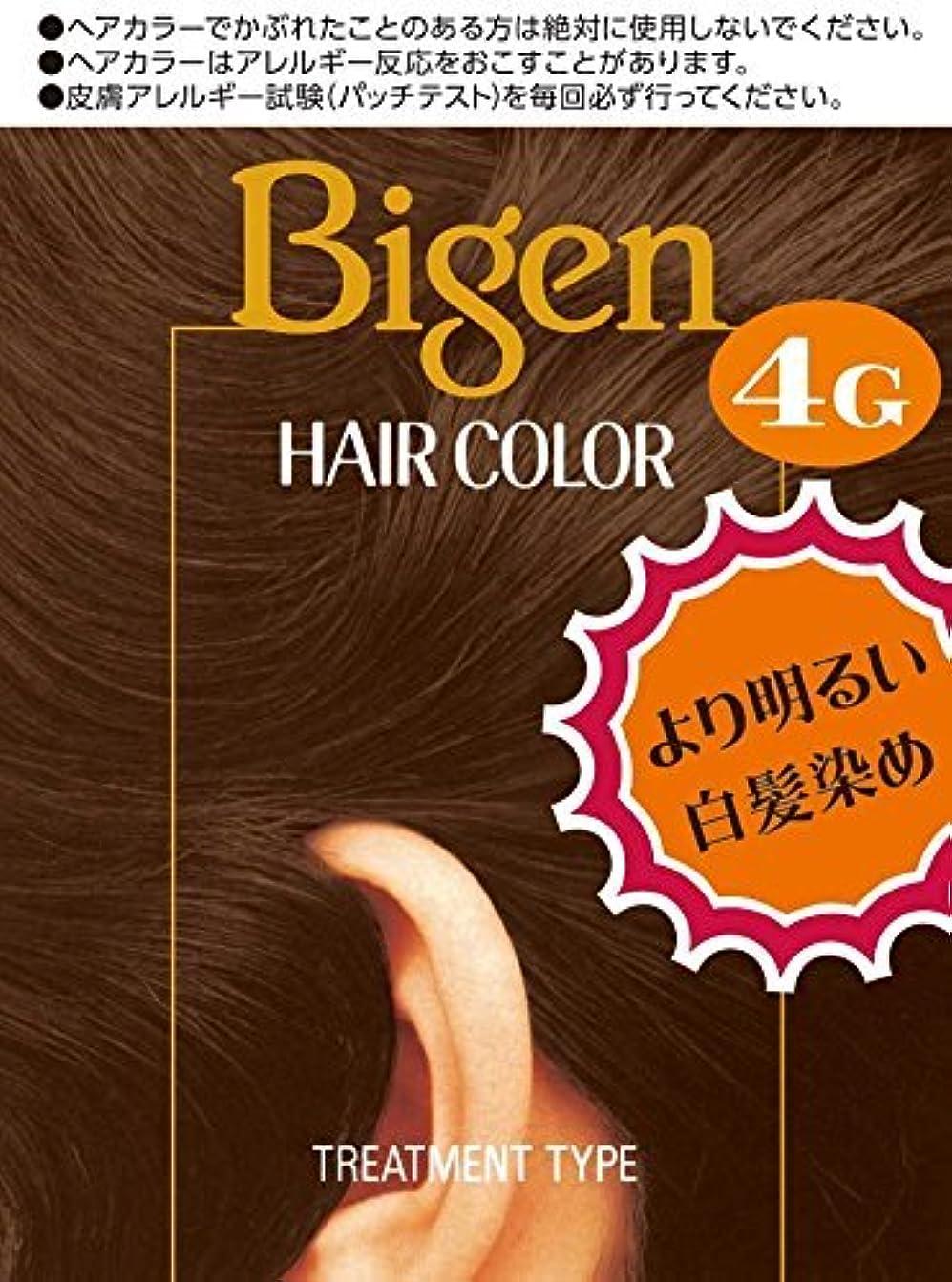 または秘書舌なホーユー ビゲン ヘアカラー 4G (自然な栗色) 40mL+40mL ×6個