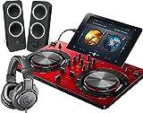 PIONEER DJスタートセット DDJ-WEGO3-R + Z200 + ATH-M20X(DJコントローラー + スピーカー + ヘッドホン) (レッド)
