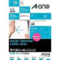 【Amazon.co.jp限定】 エーワン ラベルシール 光沢紙 ノーカット 28691E 30枚