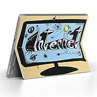 Surface go 専用スキンシール サーフェス go ノートブック ノートパソコン カバー ケース フィルム ステッカー アクセサリー 保護 その他 ネット 文字 英語 イラスト 007331