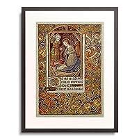 Handschrift 「Geburt Christi. Aus einem Franzosischen Stundenbuch. Memb.II 176, 99v」 額装アート作品