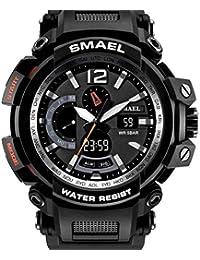 【TAILOR JAPAN】メンズ ミリタリー腕時計 メンズウォッチ 防水 デュアルコア アナログデジタル 軍仕様モデル SMAEL アウトドア スポーツ カジュアル