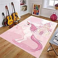 馬柄 漫画 長正方形 リビングルームコミック子供クロールパッド赤ちゃんルームベッドサイド滑り止め子供クロールパッド フロア 絨毯 絨毯 ストライプ ラグマット ナチュラル