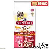サイエンス・ダイエット ヘアボールコントロール ライト チキン 肥満傾向の成猫用 1.8kg×6袋