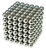 強力磁石の立体パズル!マグネットボール216個セット シルバー / R