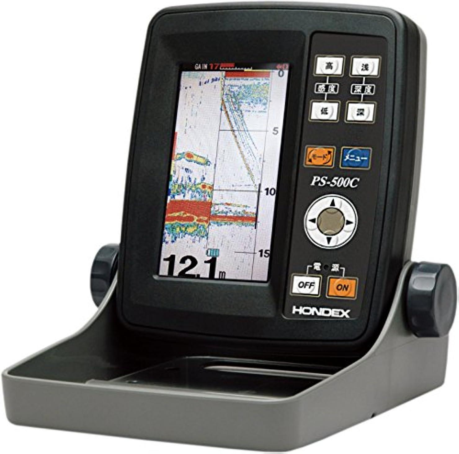 牧師緊張する資金HONDEX(ホンデックス) 魚群探知機 ポータブル魚探 PS-500C 振動子 TD7 ワカサギパック 4.3型ワイド