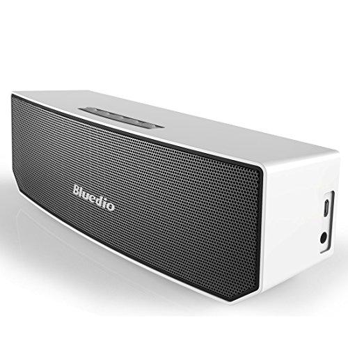 エイプリルフール Bluedio BS-3 Camel Series Bluetooth ワイヤレススピーカー 3Dステレオサウンド 3マグネットドライバー (ホワイト)