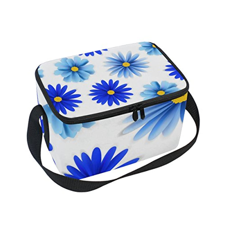 アクロバット作り上げるカスケードクーラーバッグ クーラーボックス ソフトクーラ 冷蔵ボックス キャンプ用品  青菊柄 白背景 保冷保温 大容量 肩掛け お花見 アウトドア