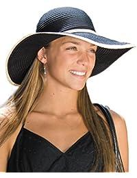 (サングローブ) Sunglobe UVカット 帽子(女性用) - レディース ハット - リボン キャプリーヌ カラー:ブラック、ナチュラル、レッド、ホワイト