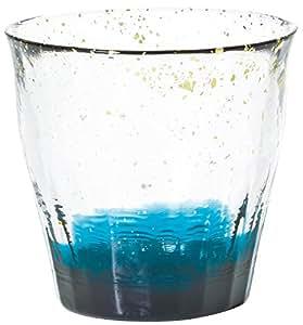 アデリア 津軽びいどろ 手にしっとり馴染む ロックグラス 金彩 碧 300ml F71467
