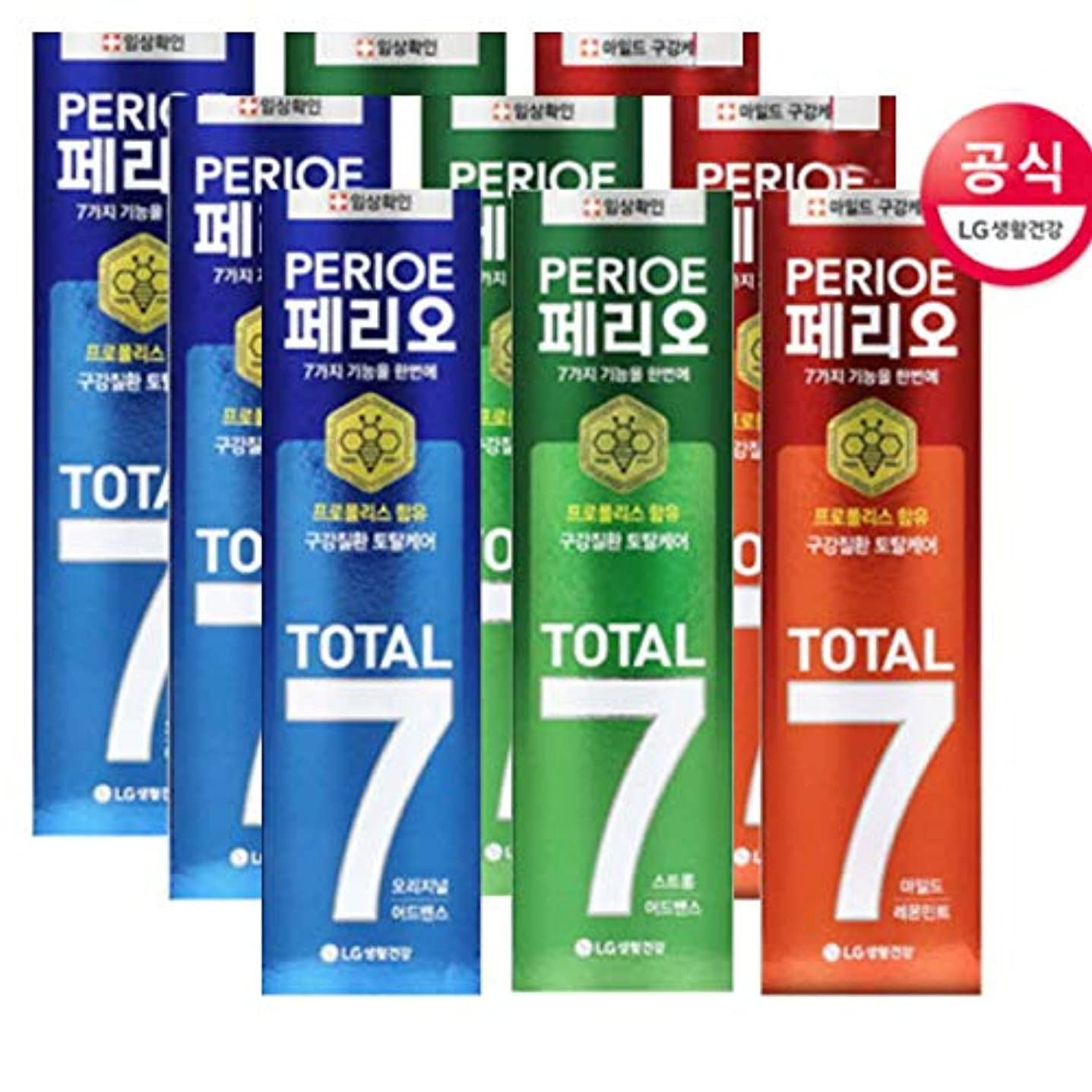 頻繁にルーチンリンク[LG HnB] Perio Total 7 toothpaste /ペリオトータル7歯磨き粉 120gx9個(海外直送品)