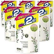 Sarasa 無添加 含植物成分的洗衣液 液體 替換裝 約2倍(1640克)×6袋