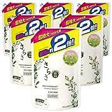 【ケース販売】さらさ 無添加 植物由来の成分入り 洗濯洗剤 液体 詰め替え 1640g(約2倍)×6袋