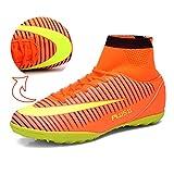 Socone メンズ サッカーシューズ サッカートレーニングシューズ 超軽量モデル オレンジ 270