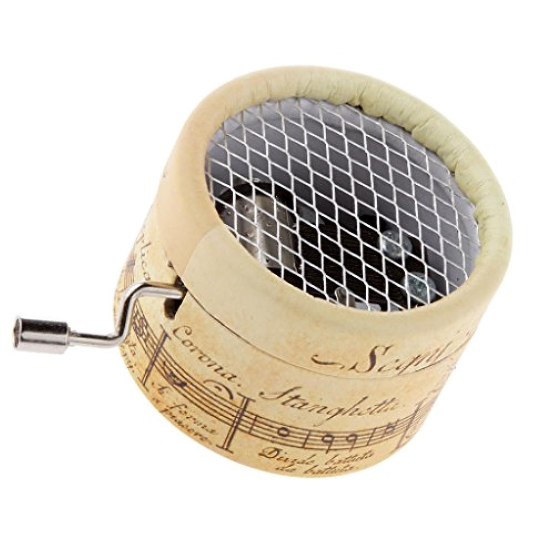 Fityle オルゴール(ハンドクランク 時計じかけ) 紙箱型 贈り物に最適 メロディ(千と千尋の神隠し) デコレーション