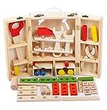 JUST style 【国内検査済】男の子のおもちゃ 積み木 知育玩具 で おままごと 「はじめての大工さん」 赤ちゃん 舐めても安心 かじれる 収納BOX付き