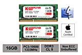 Komputerbay 16GB 1333MHz ノートPC用メモリ 204Pin SO-DIMM DDR3-1333 PC3-10600 8GB×2枚組 永久保証 画像